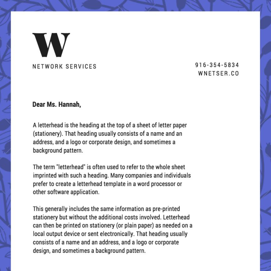 make letterhead online