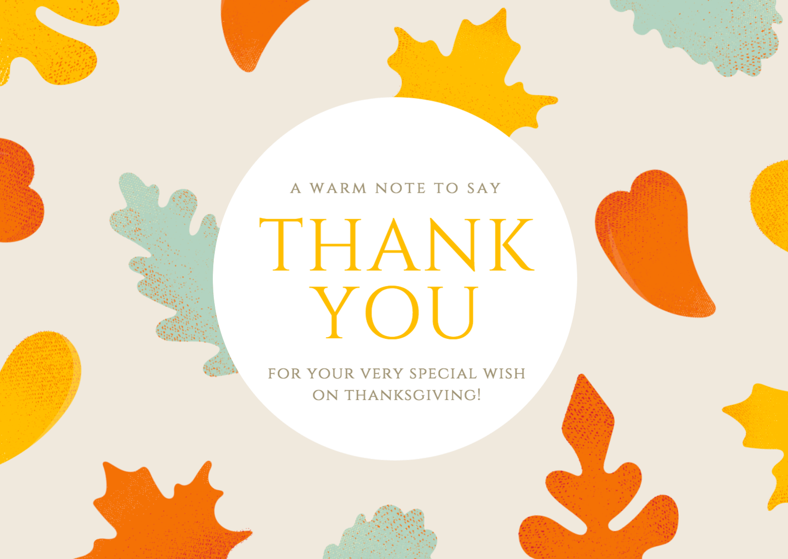 Free Thank You Card Maker Canva