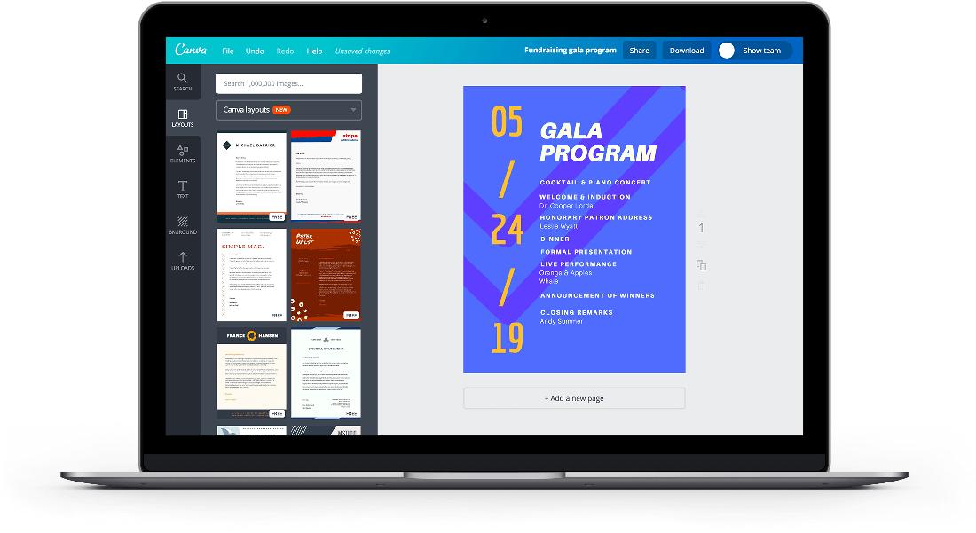 Free Online Event Program Maker Design A Custom Event