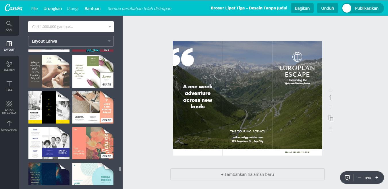 Buat Desain Brosur Wisata Terbaru  Canva