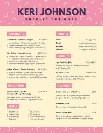 30 Contoh CV Kreatif Canva
