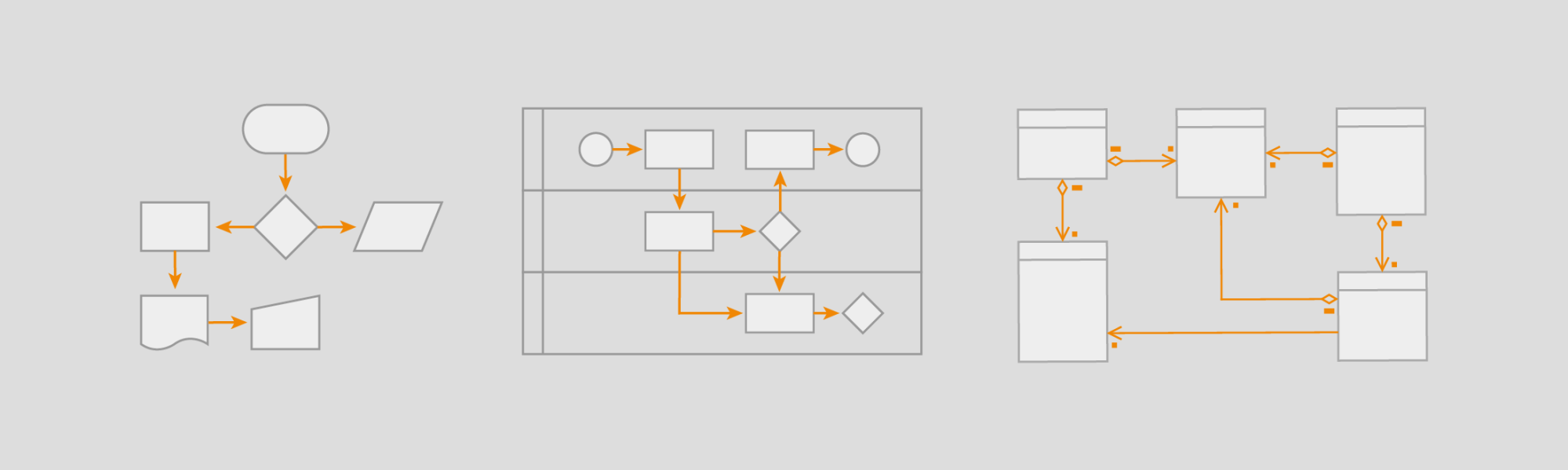 hight resolution of creating different types of flowcharts with draw io