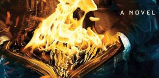 Detail from the cover of Fahrenheit 451 by Ray Bradbury