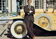 Robert Redford as Gatsby