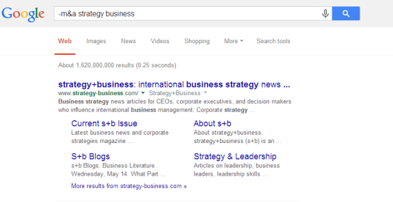 -m a strategy business - Google Search