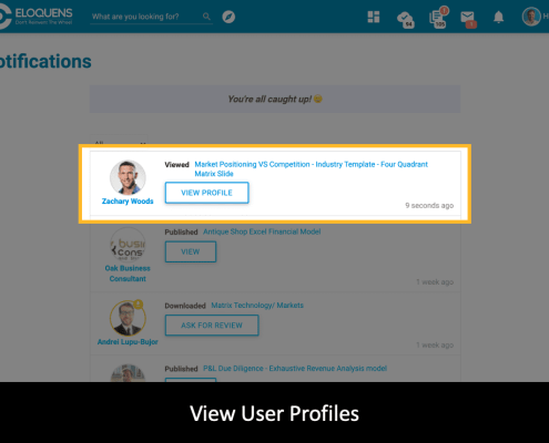 View User Profiles - Smart Notifications