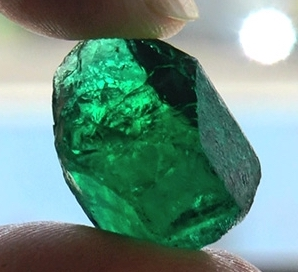 A lovely emerald from the Belmont mine in Brazil.