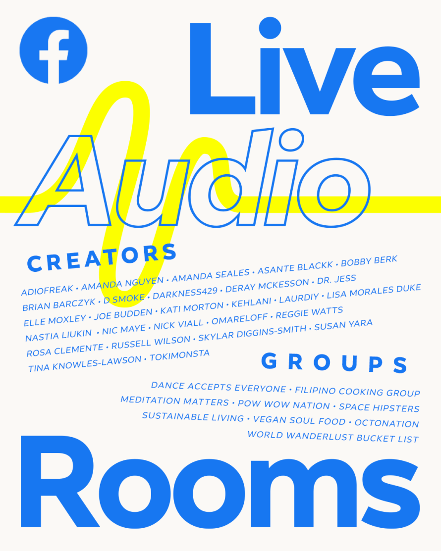 Poster of Live Audio Rooms creators and groups
