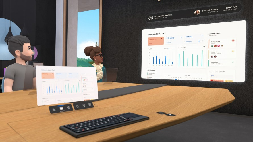 Image of VR avatars collaborating in Horizon Workrooms