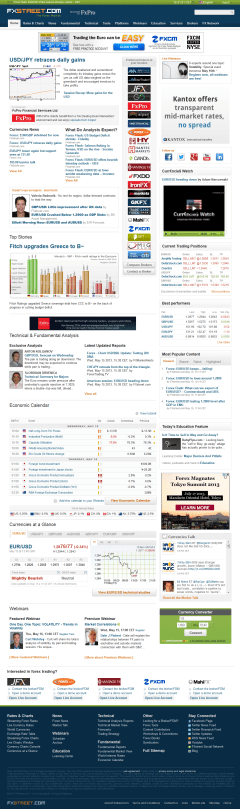 Forex Street Homepage After