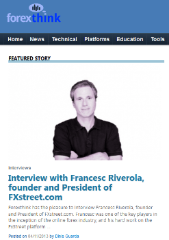 Forex Think  Interview Francesc Riverola
