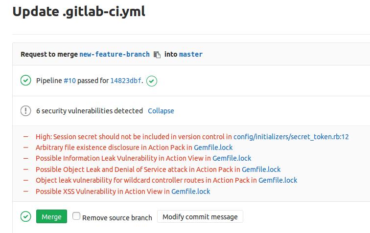 SAST-Gitlab 10.3