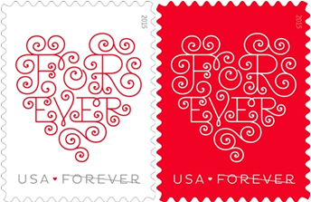 love forever hearts stamps