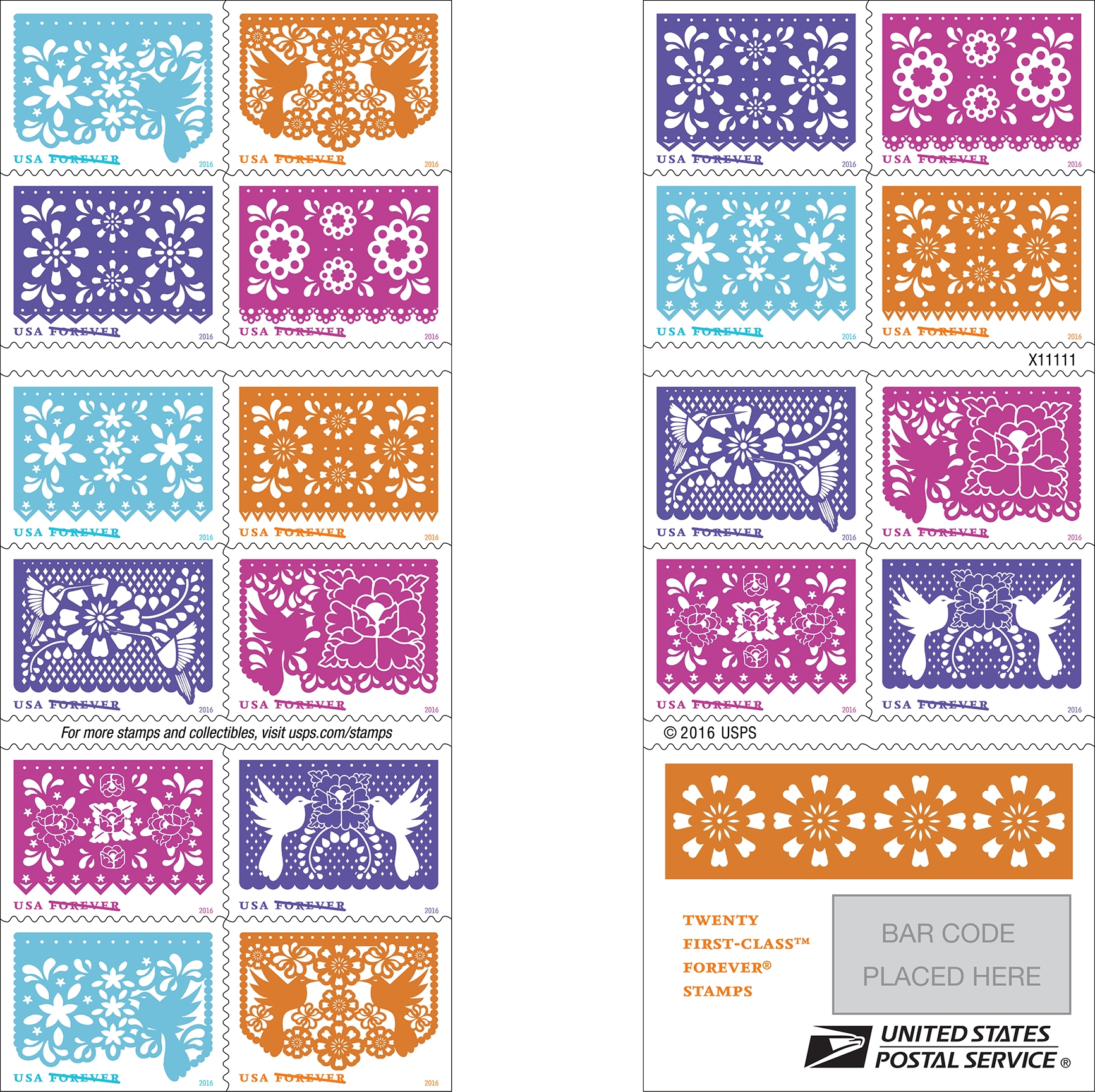 new forever stamps booklet
