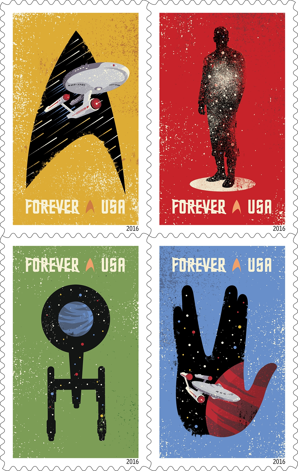 star trek stamps to