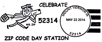 Mount Vernon Post Office to (Post) Mark Historic ZIP Code Day