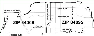 New 84009 Zip Code in Salt Lake County