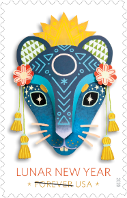Lunar New Year: Year of the Rat stamp