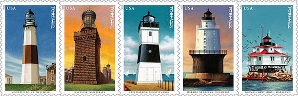 Mid-Atlantic  Lighthouses stamps
