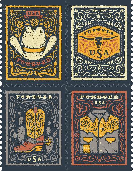 Western Wear stamps
