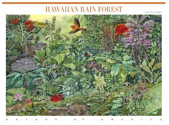 Stamp Announcement 10-22: Nature of America: Hawaiian Rain Forest