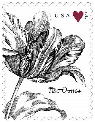Stamp Announcement 15-26: Vintage Tulip Stamp
