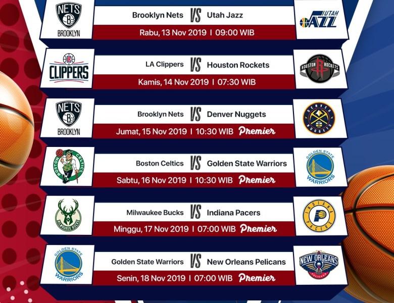 Jadwal NBA Pekan Ini (13 – 18 November 2019)