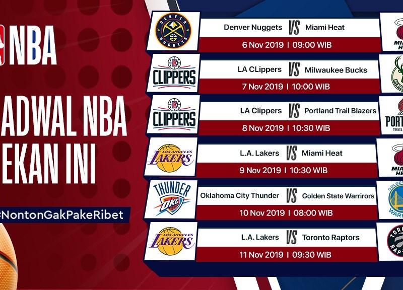 Jadwal NBA Pekan Ini (30 Oktober – 4 November 2019)