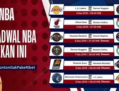 Jadwal NBA Pekan Ini (4 – 11 Desember 2019)
