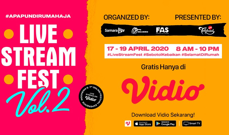 Ikuti Keseruan Nonton Live Stream Fest Vol. 2 di Vidio!