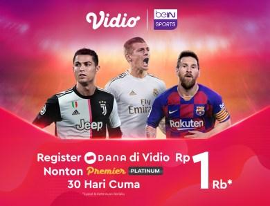 Nonton Bola La Liga dan Serie A di Vidio Hanya Rp 1.000 Dengan DANA