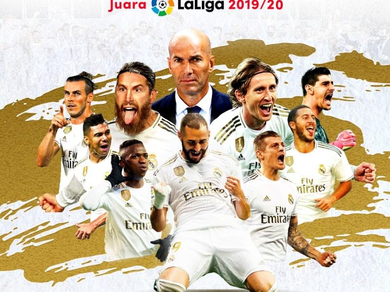 Fakta Keberhasilan Real Madrid Juara La Liga 2019/2020