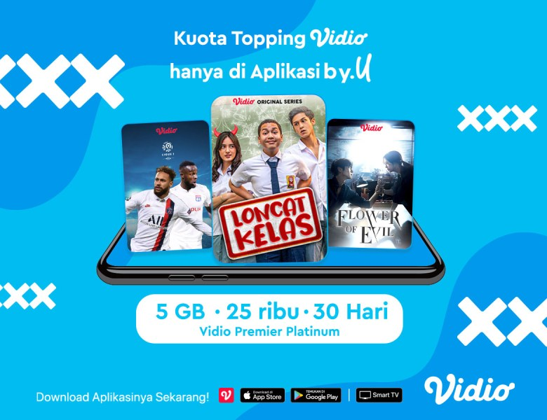 Nonton Film & Liga Champion Lebih Asyik Pakai Kuota Topping Vidio Hanya di Aplikasi By.U!