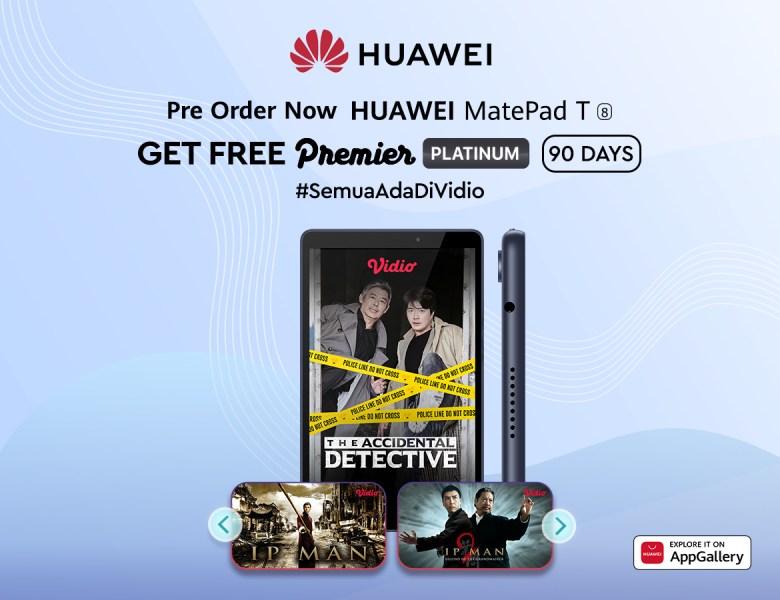 BELI HUAWEI MatePad T8, Dapatkan Vidio Premier Platinum 3 Bulan!