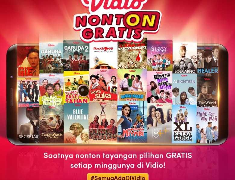Vidio Nonton Gratis di Bulan Agustus, Ada Film Warkop DKI hingga Drama Korea