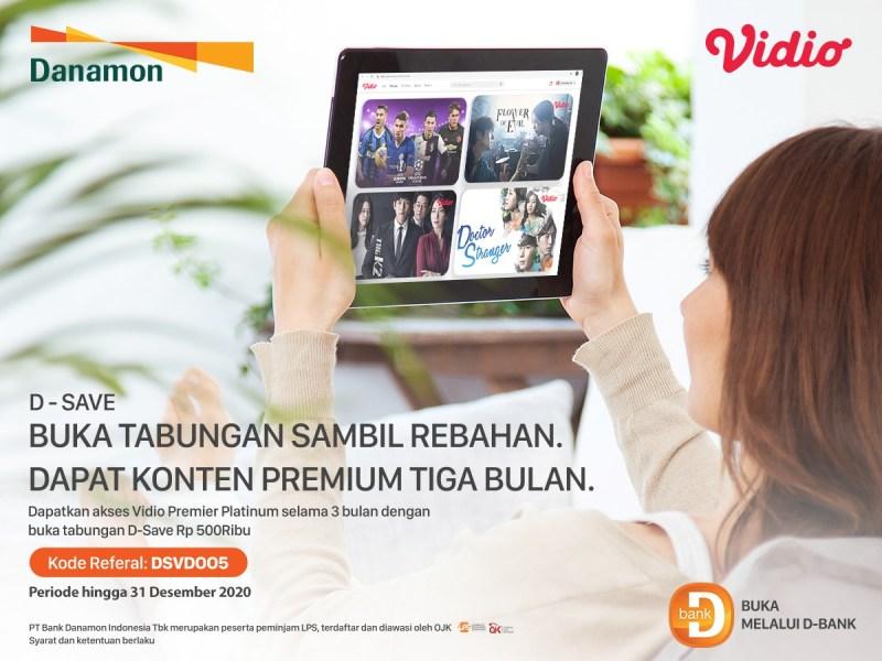 Buka Tabungan Danamon Sambil Rebahan, Bonus Vidio Premier Platinum 3 bulan!