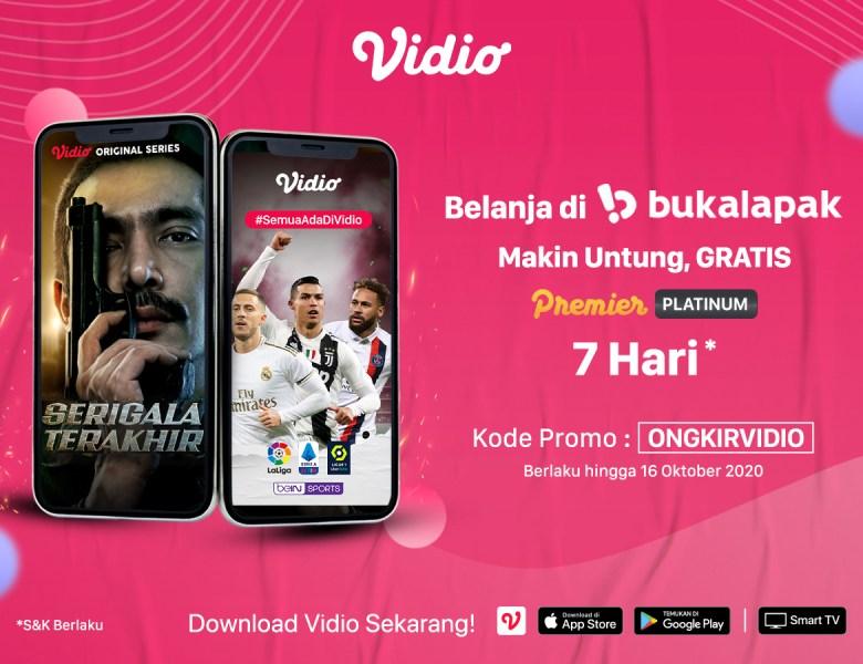 Gratis Vidio Premier Platinum Setiap Belanja DI Bukalapak, Nonton Hemat Gak Pake Ribet