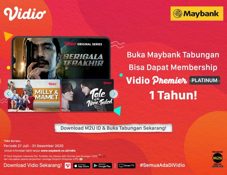 Buka Maybank Tabungan via M2U ID App, Dapat Membership Vidio Premier Platinum 1 Tahun!