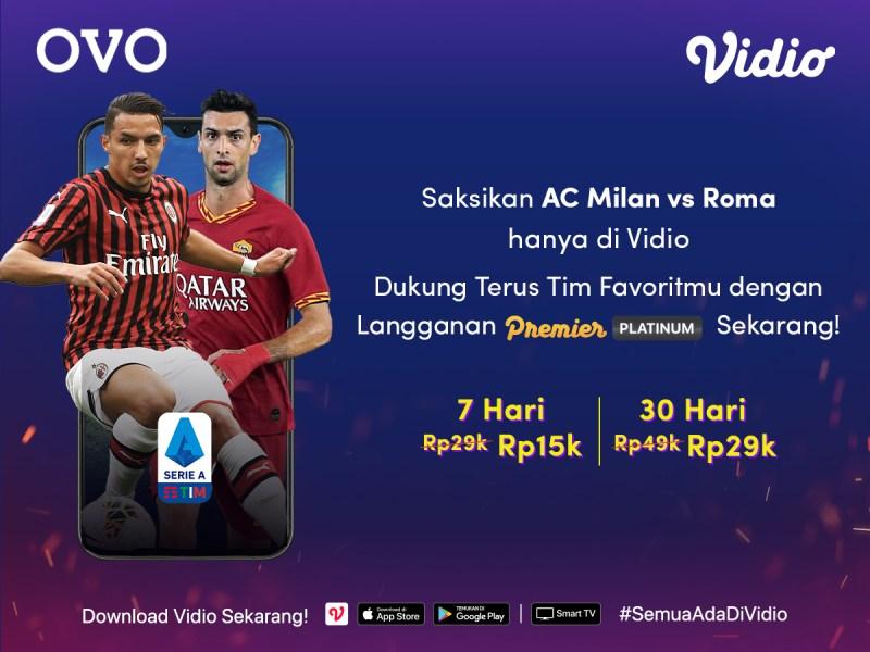 Nonton Bola Tambah Terjangkau Dengan Berlangganan Premier Platinum Bersama OVO di Vidio