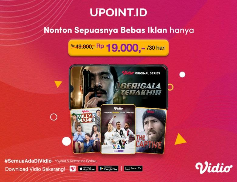 NON STOP Streaming 30 hari cuma 19rb di Upoint.id! Nonton Hemat Gak Pake Dumel.
