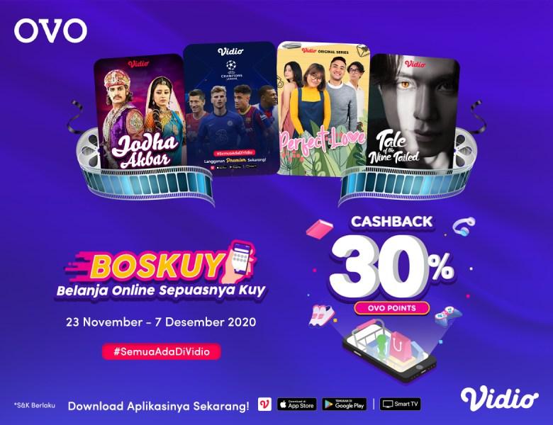 Gajian Makin Afdol Dengan Berlangganan Premier Platinum Vidio Menggunakan Promo Cashback OVO
