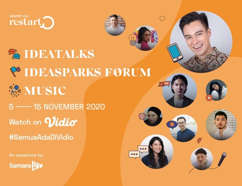 """Ideafest """"2020 Restart"""" Gagasan Baru Anak Muda di Masa Pandemi Melewati Ajang Talkshow dan Entertainment"""