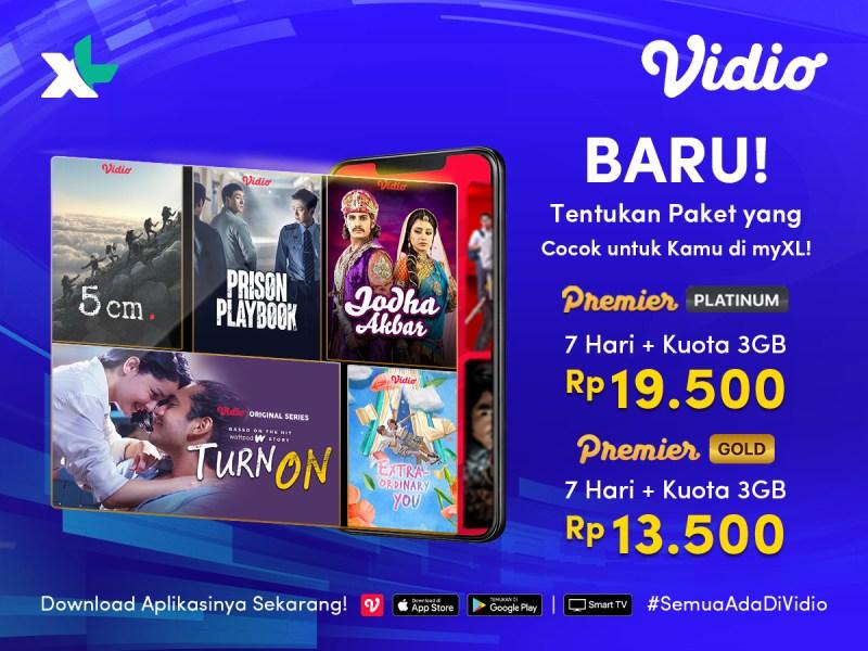 BARU! Kini Beli Paket Vidio Premier Platinum/Gold Bisa di myXL
