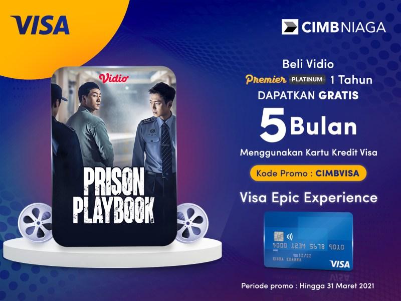 Hemat Pangkal Kaya! Langganan Vidio Premier Platinum 1 Tahun Pakai Visa CIMB Niaga Dapat Gratisan?