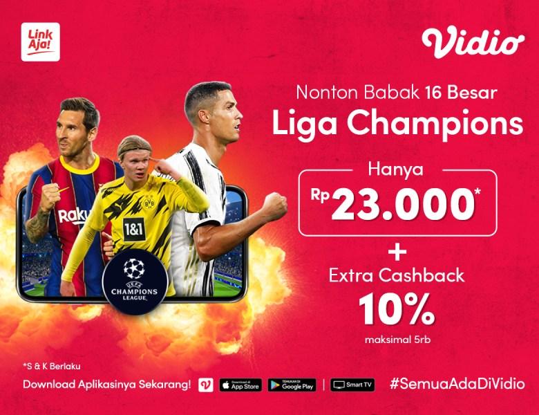 Langganan Premier 30 Hari Extra Cashback Pakai LinkAja untuk nonton Liga Champions!