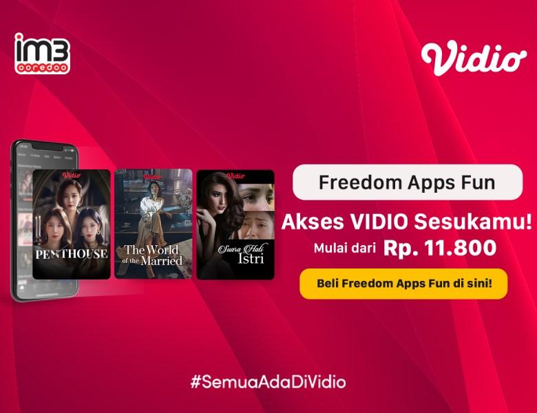 Kado Spesial dari Indosat! Nonton Tayangan Vidio Makin Hemat dan Seru dengan Promo Freedom Apps Fun
