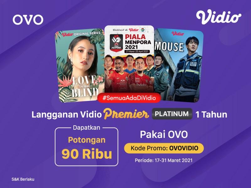 Hemat Abis! Pakai Promo OVO Diskon Vidio Premier Platinum 1 Tahun Hingga 90rb!