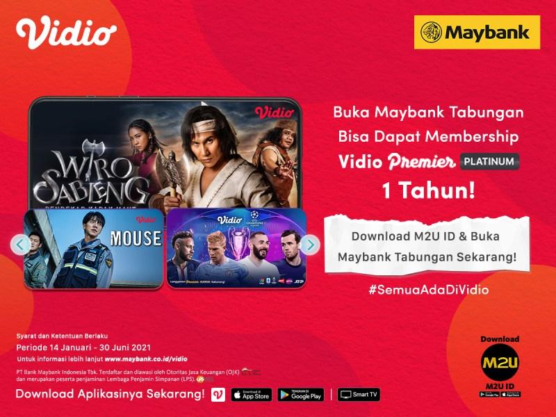 Promo Maybank Paling Seru, Buka Tabungan Dapat Vidio Premier Platinum 1 Tahun!