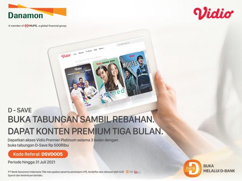 Promo Danamon, Buka Tabungan Sambil Rebahan Dapat Konten Vidio Premium Tiga Bulan!