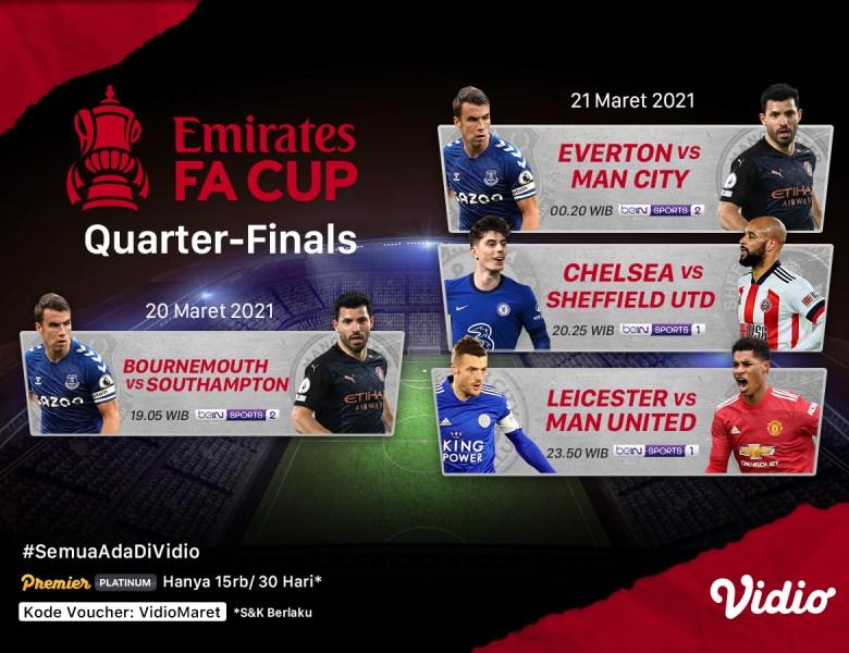 Link Live Streaming Piala FA di Vidio, Tonton Pertandingannya!